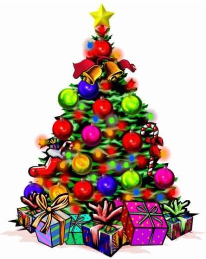 Navidad historia del arbol de navidad el candil de los for Dibujo arbol navidad