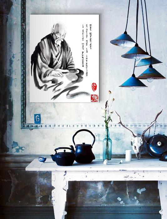 Zen para el hogar el candil de los pensamientos - Cuadros estilo zen ...