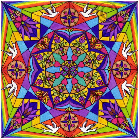 M ndala el candil de los pensamientos - Colores para mandalas ...