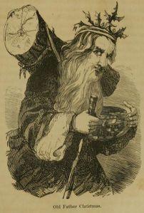 El viejo Papá Noel, ilustración de un libro estadounidense del año 1855