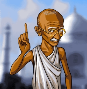 CartoonKidCivilizationRevolutionGandhi